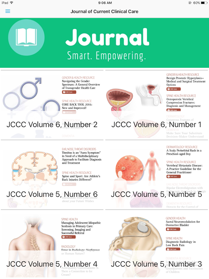 Journal Current Clinical Care- screenshot
