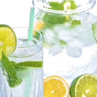 Mint Lemon Lime Detox Water.