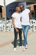 Moshe Ndiki and partner Phelo Bala are nominated for Cutest Couple of the Year at the Feather Awards