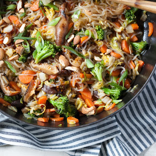 Vegetarian Sweet Chili Noodle Stir-Fry.