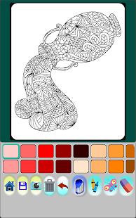 AnimalMandala Coloring Book Screenshot Thumbnail