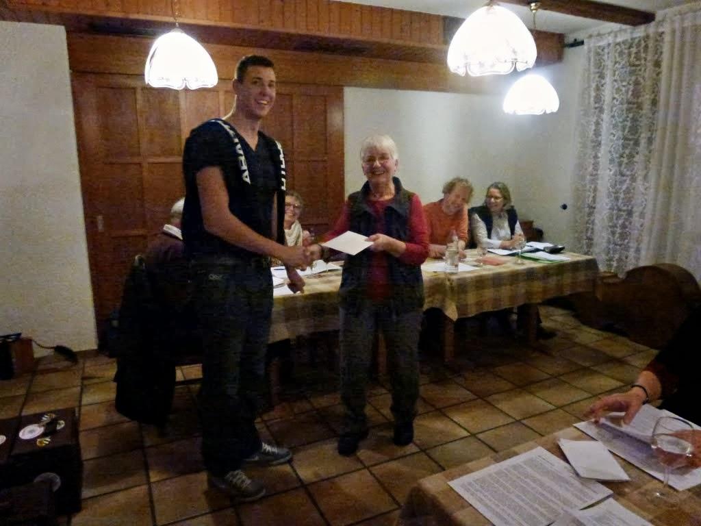 Photo: Unser jüngstes Mitglied Roger Hartmann verlässt uns leider. Schade! Wir wünschen ihm alles Gute für seine Zukunft.