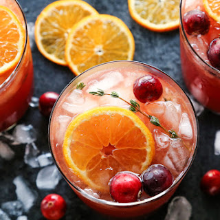 Cranberry Thyme Gin and Tonic.