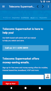 Telecoms Supermarket India- screenshot thumbnail