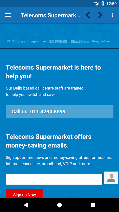 Telecoms Supermarket India- screenshot
