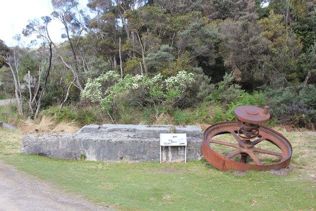 Fly wheel from old Cockle Creek timber mill