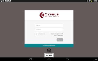 Screenshot of Cyprus CU Mobile Banking
