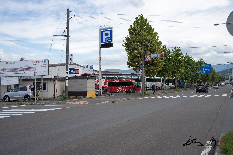小樽運河の貸切バス駐車場