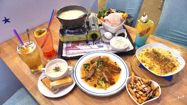 希臘海洋風好停車台南親子餐廳, 台南新營努逗風味館。