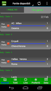 Calcio LIVE screenshot 2