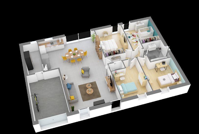 Vente Terrain + Maison - Terrain : 1600m² - Maison : 104m² à Changé (72560)