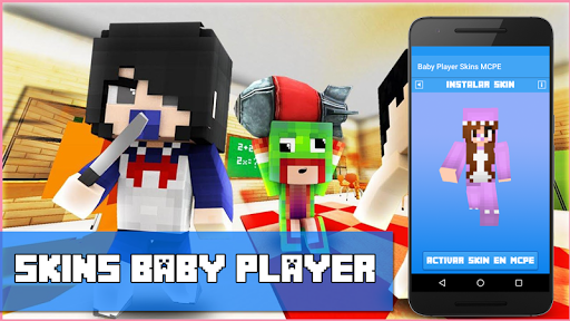 Baby Player Addon Skins MCPE for PC