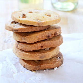 Elderflower & White Choc Chip Shortbread.