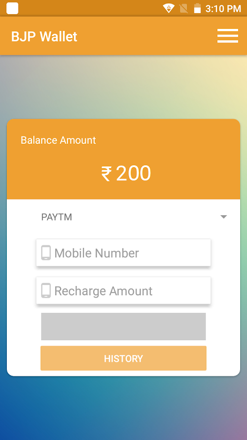 BJP wallet- screenshot