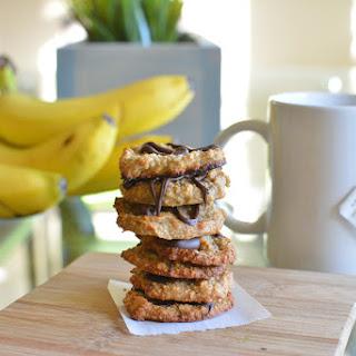 No Sugar-added, Paleo, Vegan Banana Coconut Cookies.