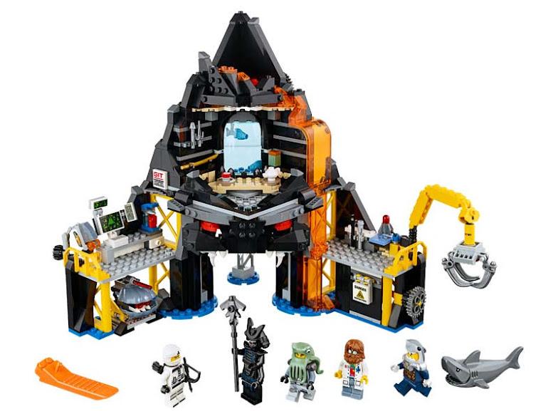 Contenido de Lego® 70631 Guarida volcánica de Garmadon