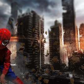 Castiel Manu - Superhero Spiderman by Gerlan Manu - Digital Art People ( spiderman for kid )