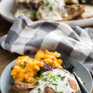 Slow Cooker Pork Chops with Creamy Herb Sauce Recipe
