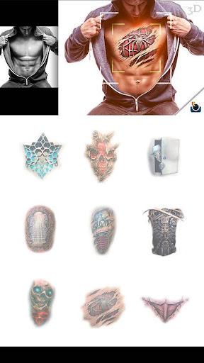 FREE-ZCAMERA 3D TATTOO STICKER Screenshot