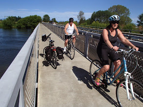 Photo: cycle clipon on Motueka Bridge