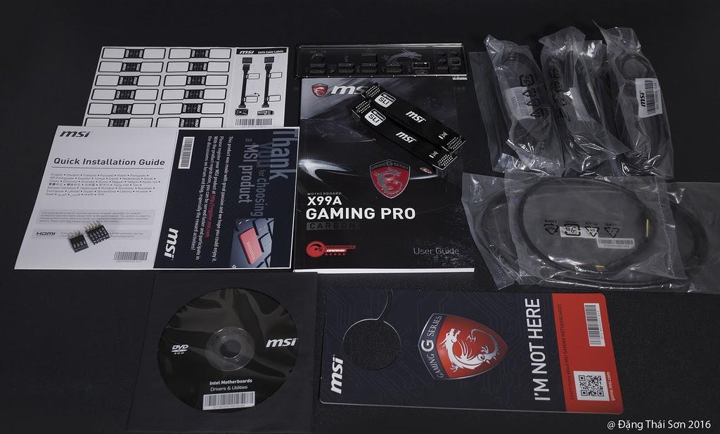 Đập hộp bo mạch chủ MSI X99A Gaming Pro Carbon