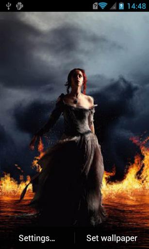 Girl in fiery water Live WP