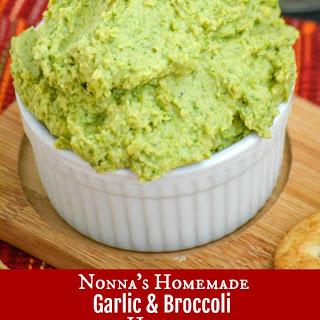 Nonna's Homemade Broccoli Hummus Dip.