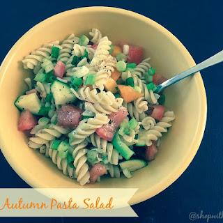 Easy Autumn Pasta Salad.