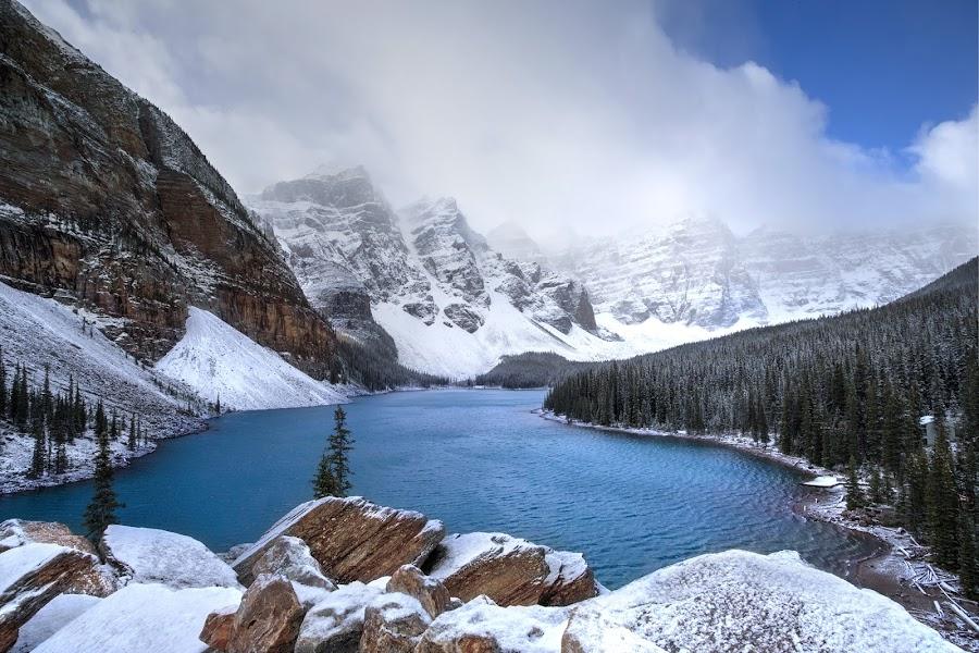 Canadian Gem by Ken Smith - Landscapes Travel ( canadian rockies, moraine lake, banff national park, landscape )