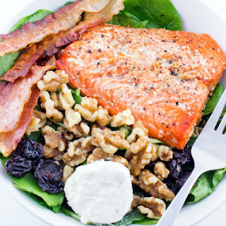 Salmon & Bacon Salad.