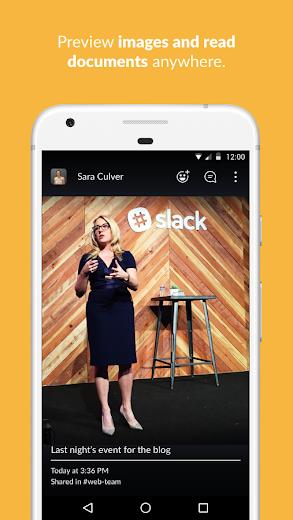 Screenshot 1 for Slack's Android app'