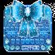 Blue Glitter Bow Knot Keyboard Theme
