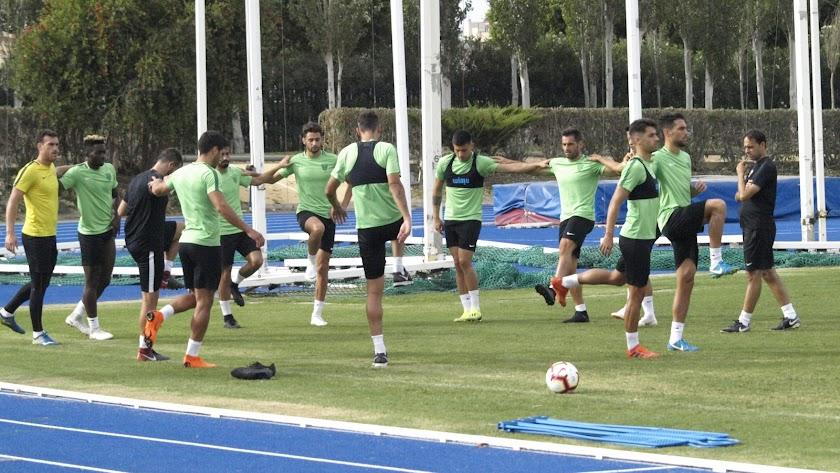 Fran Fernández con los titulares en la Copa del Rey.