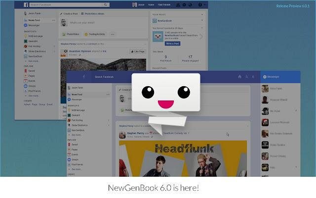 NewGenBook for Facebook