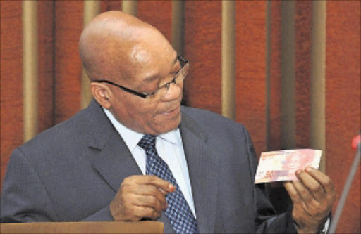 NOTED: President Jacob Zuma  announced on Saturday the new banknotes from R10 to R200 bearing former president Nelson Mandela's face. The announcement marked the 22nd anniversary of the release of Mandela after he spent 27 years in jail.