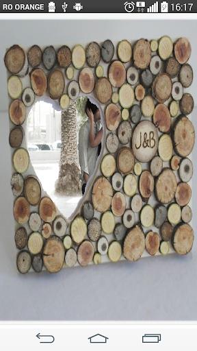 Wood love Photo Frame