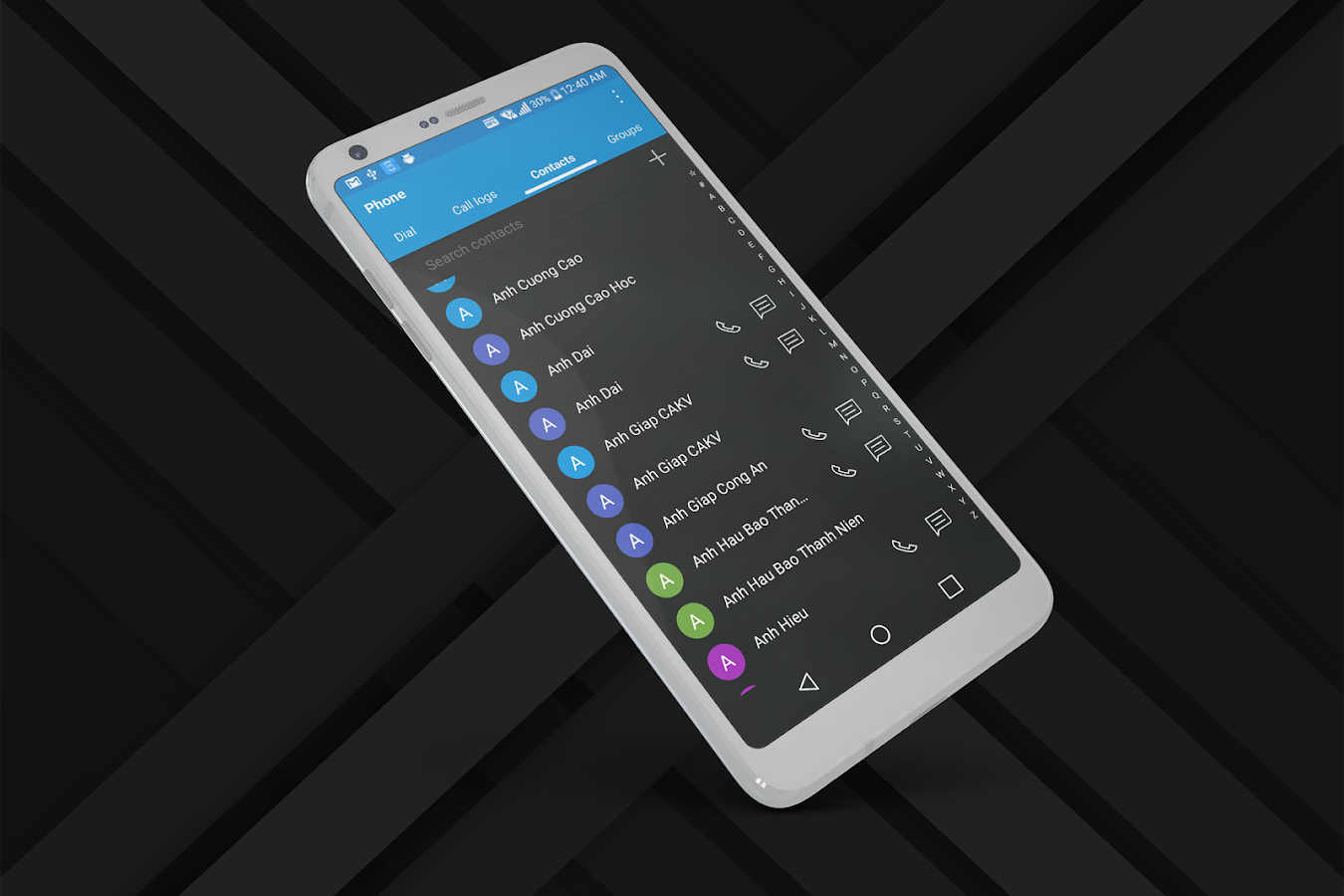 Pixel Dark Theme for LG G6 V20- screenshot