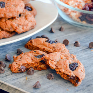 Toasted Coconut Chocolate Chip Cookies with Cranberry