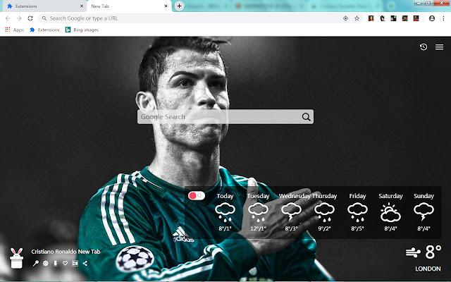 Cristiano Ronaldo New Tab, Wallpapers HD