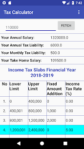 Pakistan Income Tax Calculator 2018-2019 App Download For Android 4