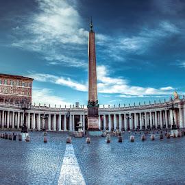 Saint Peter's Square by Leah Varney - Buildings & Architecture Places of Worship ( temple, monuments, church, buildings, architecture, vatican, basilica, italy )