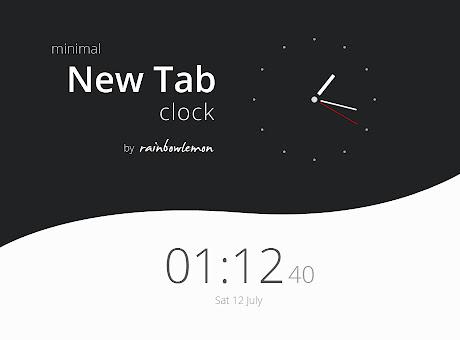 Minimal New Tab Clock