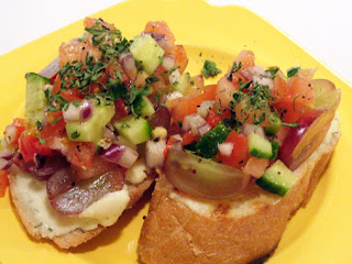 Boursin N Grape Bruschetta Recipe