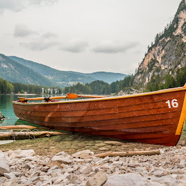 by Mario Horvat - Transportation Boats ( mountains, water, lake, boat, italy )