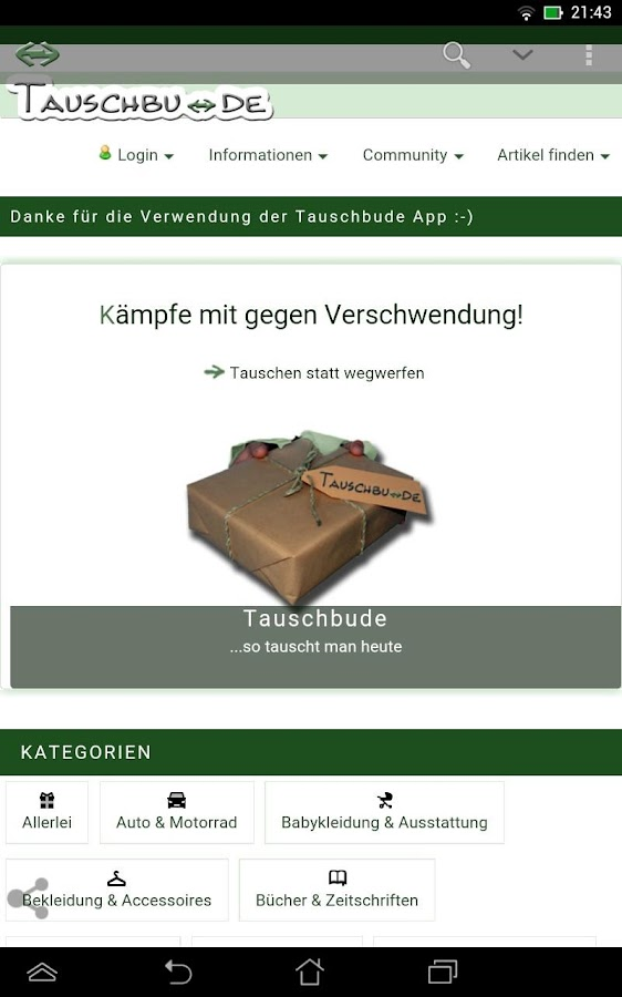 Tauschbude DE- screenshot
