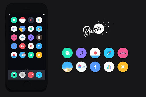 Screenshot for Ruzits v2 Icon Pack in United States Play Store