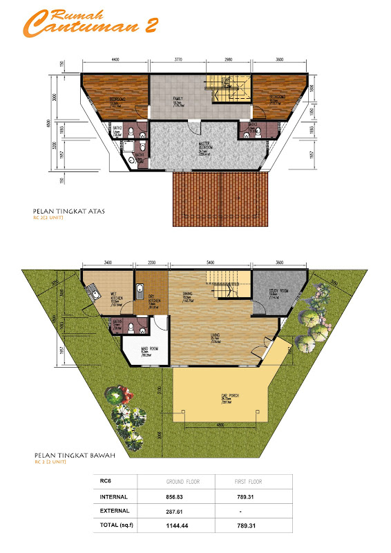 Nong chik heights affordable cantumansari homes at for Quadruplex house plans