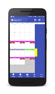 Work Calendar Screenshot