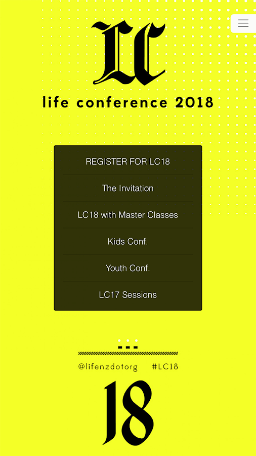 LIFE Conference- screenshot