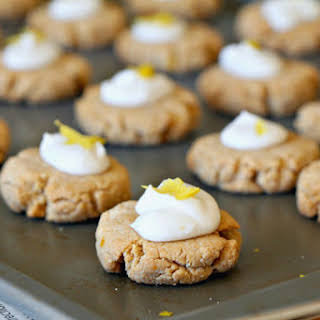 English Gingernut Cookies with Whipped Lemon-Coconut Icing (Paleo, GF, Vegan, Oil-Free, Refined Sugar Free).